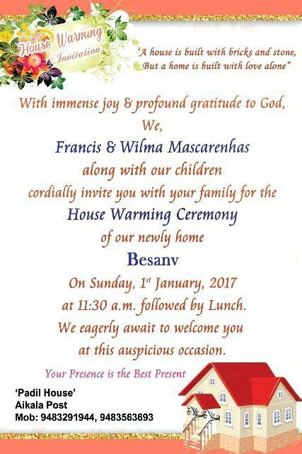 image result  house warming ceremony invitation message