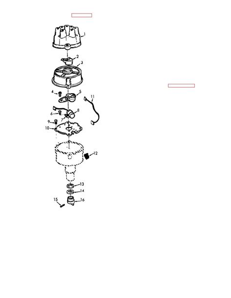 Figure 2-28. Ignition distributor. exploded view.