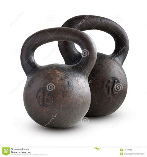 kettlebell kg isolated two