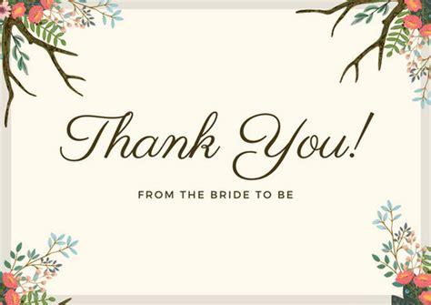 wheat border floral branch bridal shower   card