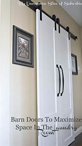 barn doors for the laundry room With barn doors for small spaces