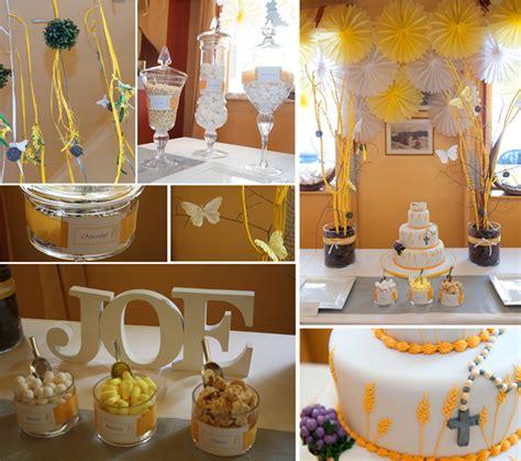 decoration de premiere communion table de lit