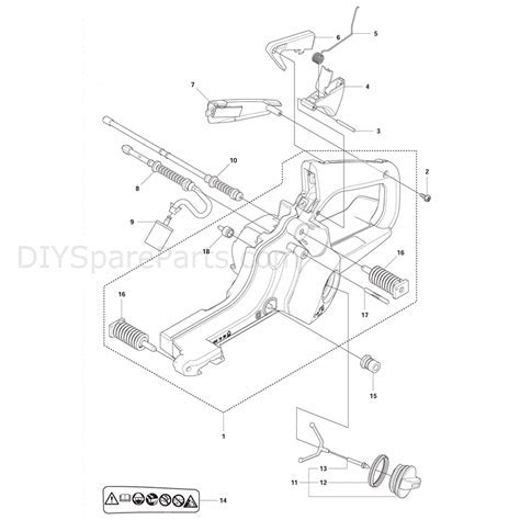 Husqvarna 135 Chainsaw (2011) Parts Diagram, Fuel Tank