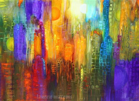 modern and contemporary artists abstract cityscape painting modern contemporary