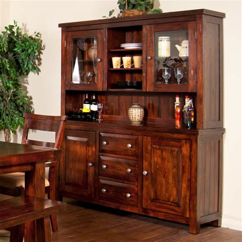 Dining Room Buffet Furniture by 2 Piece China Cabinet With Glass Hutch Doors By Sunny