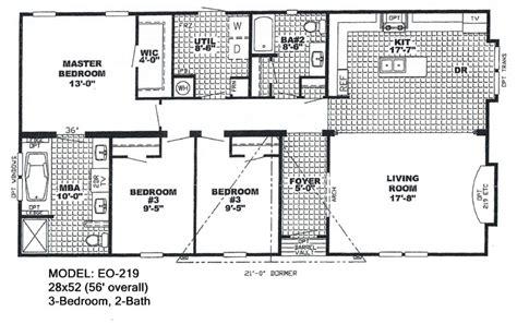 Double Wide Mobile Home Floor Plans Also 4 Bedroom