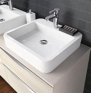Vasque Castorama à Poser : vasque poser en c ramique carr e vasque poser ~ Edinachiropracticcenter.com Idées de Décoration