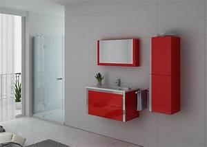 meuble de rouge pour salle de bain meuble de salle de With meuble salle de bain simple
