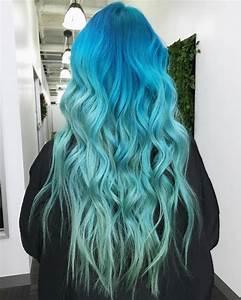 Bleu Vert Couleur : couleur cheveux bleu vert coupes de cheveux pour cheveux ~ Melissatoandfro.com Idées de Décoration