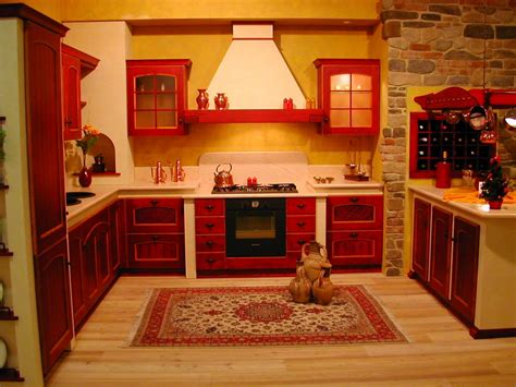 Pictures Of Red Kitchen Cabinets-interior Design