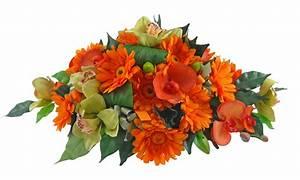 Orange Silk Gerbera & Green Orchid Wedding Table