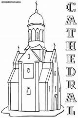Cathedral Coloring Pages Christian Designlooter 1000px 31kb sketch template