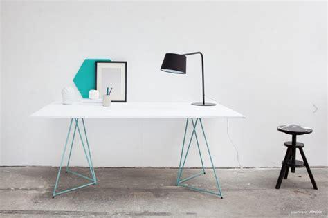 bureau treteaux tréteaux design pour bureau green déco design
