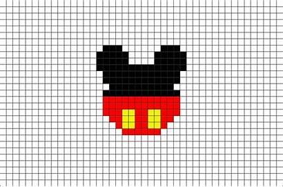 Pixel Mickey Mouse Disney Cartoon Template Animated