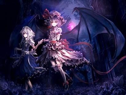 Wings Touhou Dragon Sakuya Mistress Eyes Maid