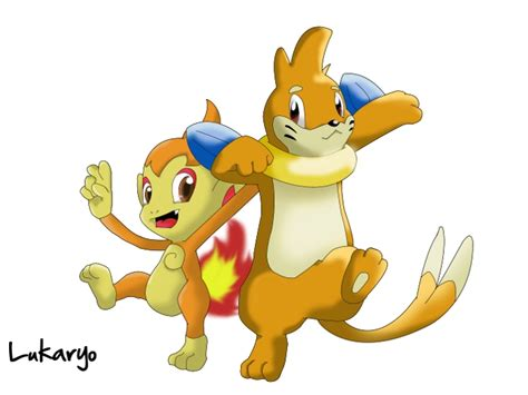 Chimchar And Buizel By Lukkaryo On Deviantart