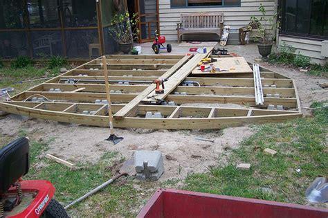 correct way to build ground level deck doityourself