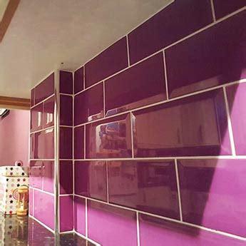 metro brick effect purple ceramic tiles mm  mm