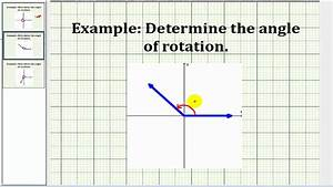 Examples  Determine Angles Of Rotation