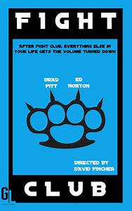 Fight Club Minimalist Poster (Original) by CinemaAddict on ...