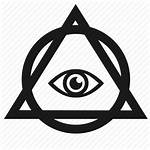 Illuminati Triangle Eye Icon Pyramid Circle Third