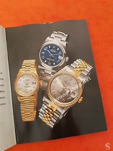 Rolex 1999 Authentic Instructions Manual Booklet Datejust