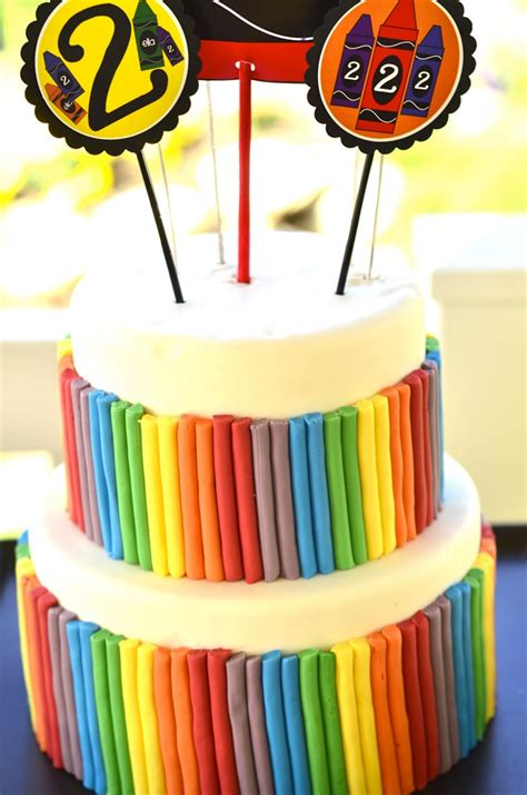 Crayon  Ee  Birthday Ee    Ee  Party Ee   By Lindi Haws Of Love The Day