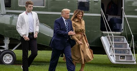 barron trump rnc smiles donald melania why glum hurts tall sparks worry appearance actually heart him never meaww