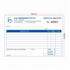 invoice receipt book a6 100 books jj e With invoice receipt book