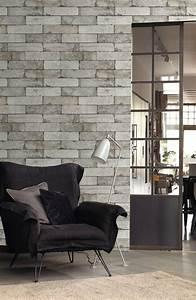 Papier Peint Brique Gris : inspiration d co le style industriel guten morgwen ~ Dailycaller-alerts.com Idées de Décoration