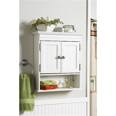 walmart bathroom furniture white better homes and gardens cottage wall cabinet white