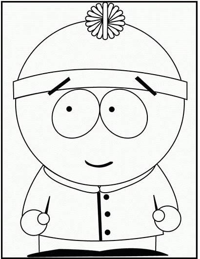 Coloring Park South Cartman Eric Smile Printable