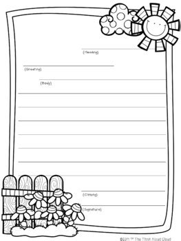 friendly letter writing spring templates