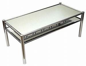 mirrored glass chrome cocktail table contemporary With chrome mirror coffee table