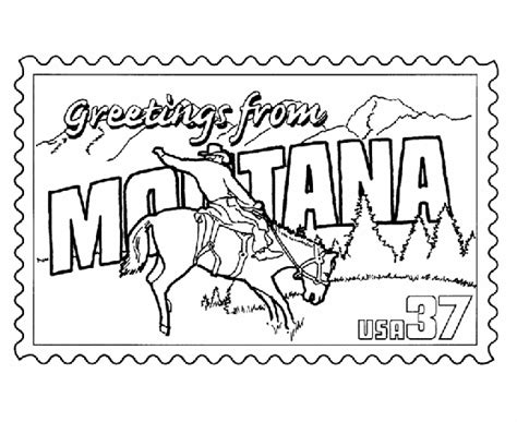 montana state colors montana state st coloring page usa coloring pages