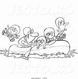 Rafting Cartoon Outline Coloring Vector Raft Leishman Toonaday Ron Template Colorare Oscar Lady Immagini Vecto Rs sketch template