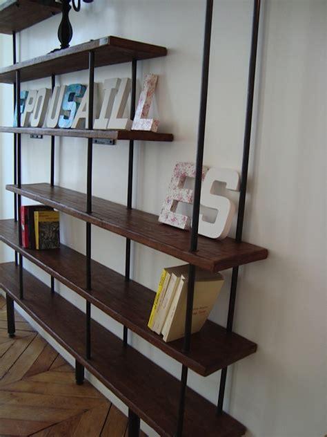 Ikea Meubles De Bureau - meuble industriel l 39 esprit loft à vos mesures etagère