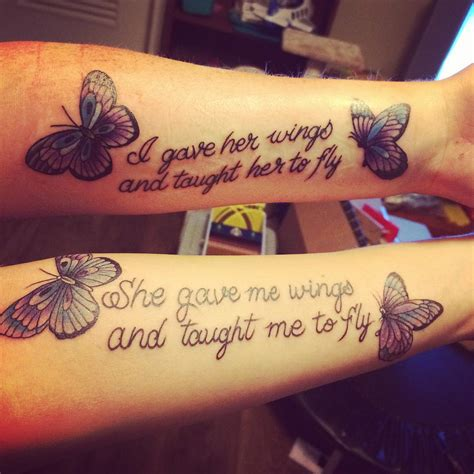 lovely mother daughter tattoos  show  deep love