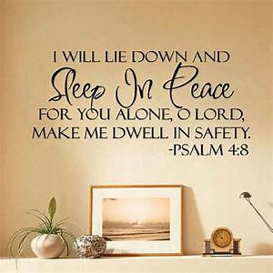 sleep in peace bible verse wall stickers quote lettering With bible verses wall decals inspiration