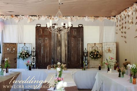 These Vintage Doors Make A Beautiful Backdrop For The