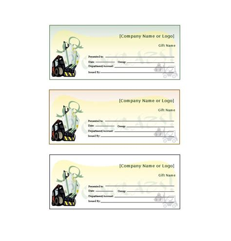 gift certificate templates template lab