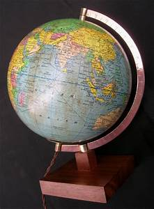 Globe Terrestre En Bois : mappemonde girard et barrere globe terrestre imprim par michard paris ~ Teatrodelosmanantiales.com Idées de Décoration