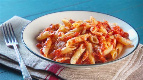 tuna tomato pasta recipe video martha stewart
