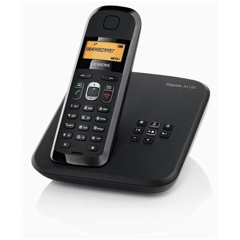 siemens gigaset as185 noir t 233 l 233 phone fixe sans fil avec r 233 pondeur iris ma maroc