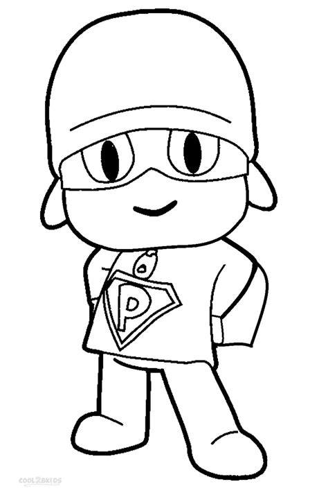 Pocoyo coloring pages to download and print for free