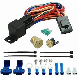 190 U0026 39 F Electric Fan Wiring Install Kit Complete Thermostat