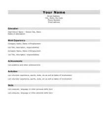 simple sle resume for a student student resume template