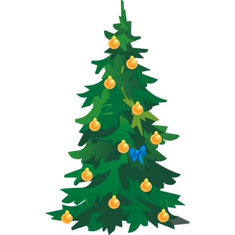 clip art christmas tree vector illustration marry