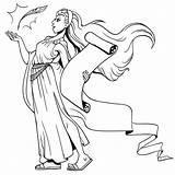 Calliope Goddesses Gods Interesting sketch template