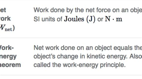 work energy theorem review article khan academy
